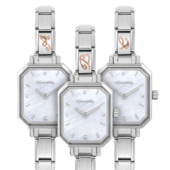 Classic Paris Mother of Pearl Dial Personalised Initial Watch