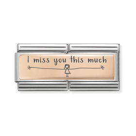 Classic Rose Gold I Miss You This Much (Girl) Double Charm