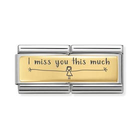 Classic Gold I Miss You This Much (Girl) Double Charm