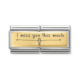 Classic Gold I Miss You This Much (Boy) Double Charm