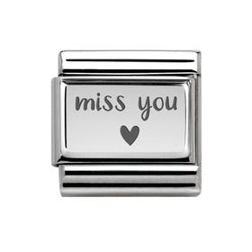 Classic Silver Miss You Charm