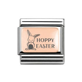 Classic Rose Gold Hoppy Easter Charm
