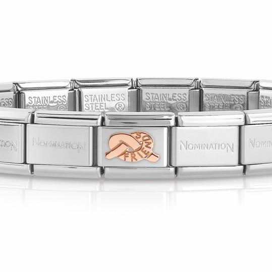 Classic Rose Gold Knot of Friendship Charm Bracelet