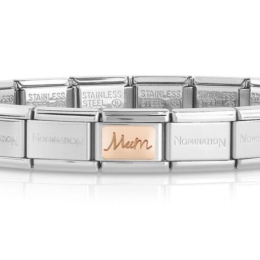Classic Rose Gold Mum Charm Bracelet