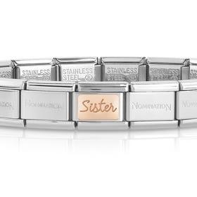 Classic Rose Gold Sister Charm Bracelet