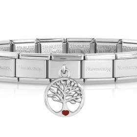 Classic Silver Tree of Life Charm Bracelet