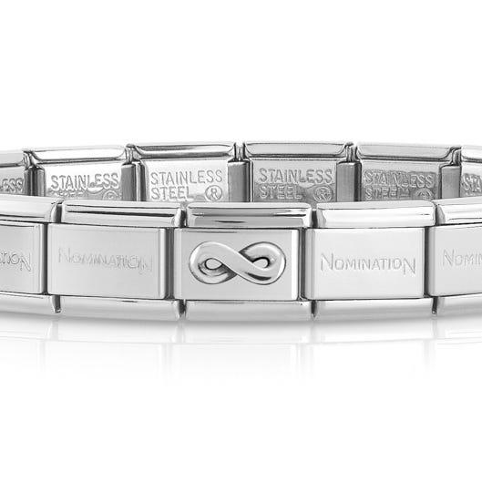 Classic Silver Infinity Charm Bracelet