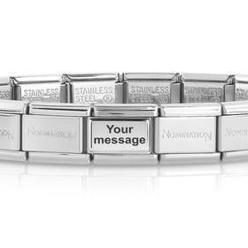 Classic Silver Engravable Charm Bracelet