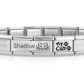 Classic Silver My Cat Engravable Charm Bracelet