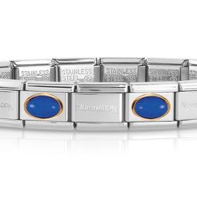 Classic Gold Lapis Lazuli Charm Bracelet