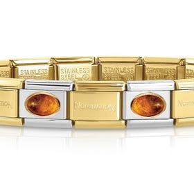 Classic Gold Amber Charm Bracelet