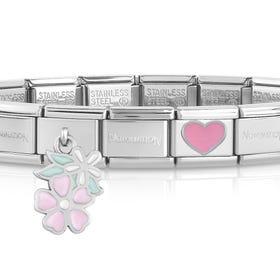Classic Silver Pretty Pastels Charm Bracelet