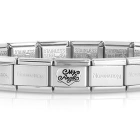 Classic Silver My Angel Charm Bracelet