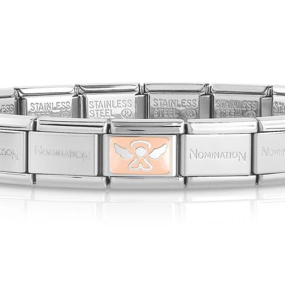 Classic Rose Gold Angel Charm Bracelet