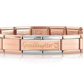 Classic Rose Gold Granddaughter Charm Bracelet