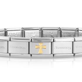 Classic Gold Cross Charm Bracelet