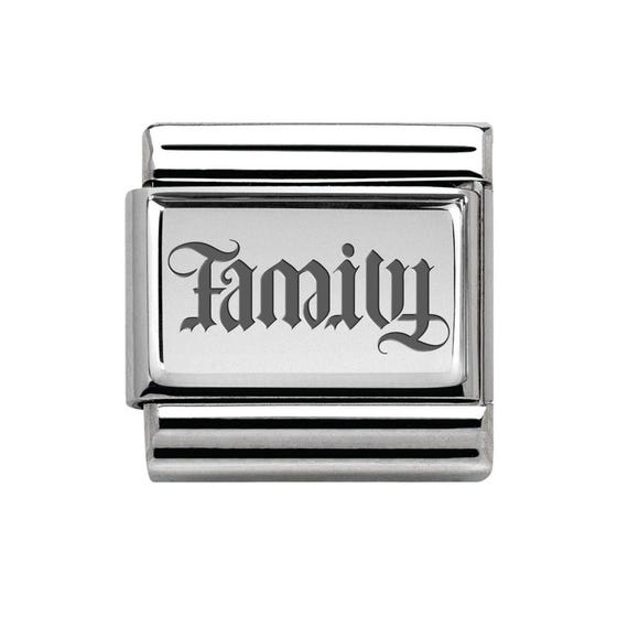 Classic Silver Family Charm
