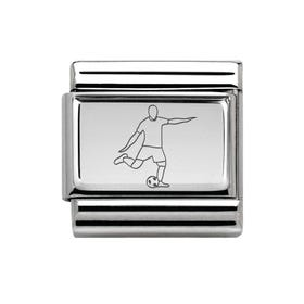 Classic Silver Footballer Charm