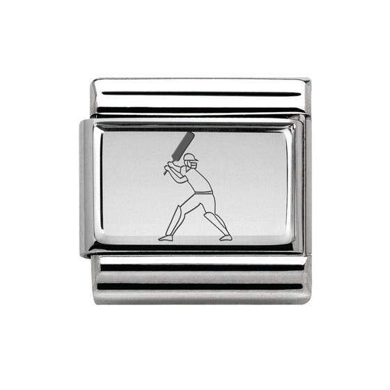 Classic Silver Cricketer Charm
