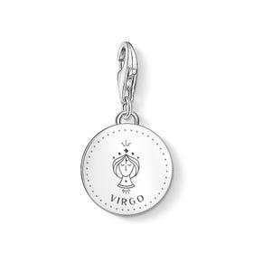 Charm Club Silver Virgo Zodiac Disc Charm