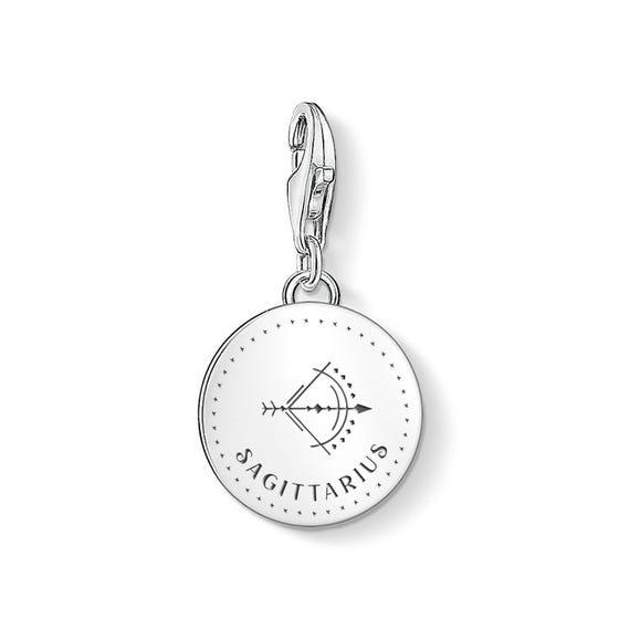 Charm Club Silver Sagittarius Zodiac Disc Charm