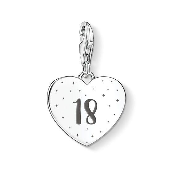 Charm Club Silver 18 Heart Charm