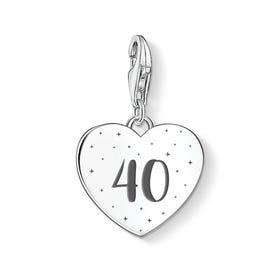 Charm Club Silver 40 Heart Charm