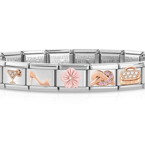 Classic Silver Glamour Charm Bracelet