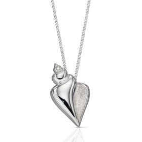 Cove Silver Conch Shell Necklace