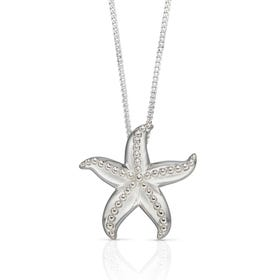 Cove Silver Ocean Starfish Necklace