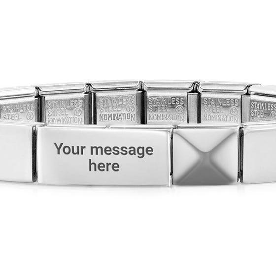 GLAM Pyramid Engravable Bracelet