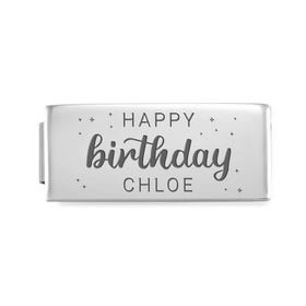 GLAM Double Charm Engraved with Name & Happy Birthday