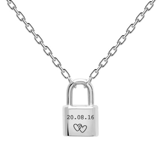 Silver Date with Hearts Bond Necklace