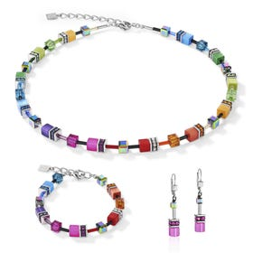 Classic GEOCUBE Jewellery Set Iconic Rainbow