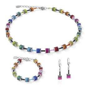 Classic GEOCUBE Jewellery Set Iconic Rainbow Cubes