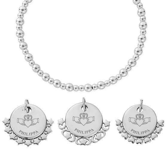 Silver Claddagh Name Didi Bracelet