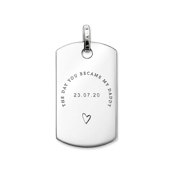 Rebel at Heart Silver 'The Day You Became My Daddy' Dog Tag Pendant