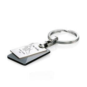 Stainless Steel My Daddy Hand Black PVD Keyring