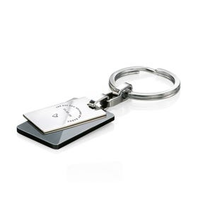 Stainless Steel 'The Day You Became My Daddy' Black PVD Keyring