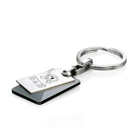 Stainless Steel World's Best Dad Black PVD Keyring