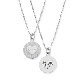 Silver Circle of Love Handwriting Necklace