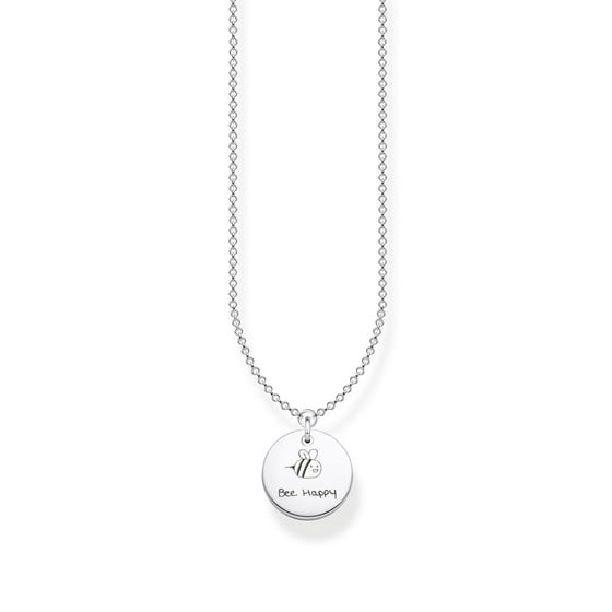 Silver Round Disc Handwriting Necklace