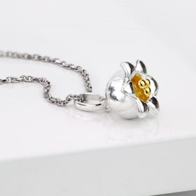 Silver May Birth Flower Lily of the Valley Necklace