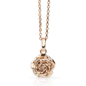 Rose Gold Plated Silver June Birth Flower Rose Necklace