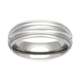 Titanium Shoulder Cut Dome 8mm Ring