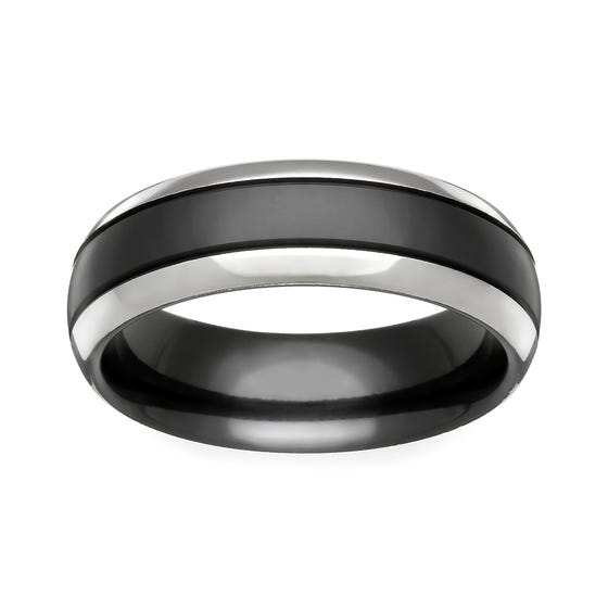 Zirconium Twin Colour 6mm Ring