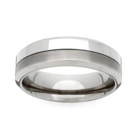 Titanium Twin Finish 6mm Ring