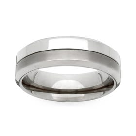 Titanium Twin Finish 6mm Ring
