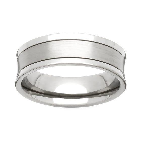 Titanium Concave 5mm Ring