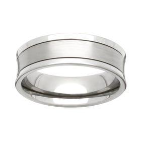 Titanium Concave 6mm Ring